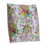 Marie Antoinette's Boudoir Burlap Throw Pillow