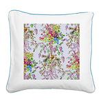 Marie Antoinette's Boudoir Square Canvas Pillow