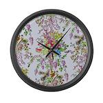 Marie Antoinette's Boudoir Large Wall Clock