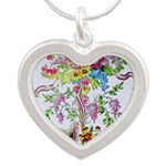 Marie Antoinette's Boudoir Silver Heart Necklace