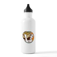 Bartender Carrying Beer Case Retro Water Bottle