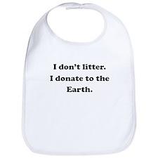 Donate To The Earth Bib