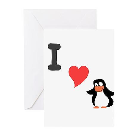 I (heart) penguin Greeting Cards (Pk of 10)