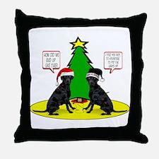 Christmas Tree Labs Throw Pillow