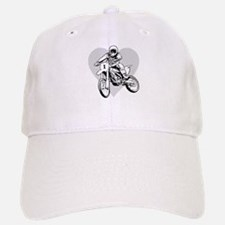 I love dirt biking with a heart Baseball Baseball Cap