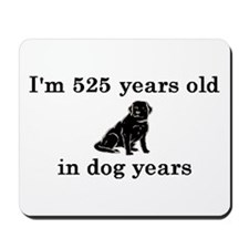 75 birthday dog years lab 2 Mousepad