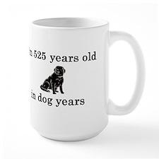75 birthday dog years lab 2 Mug