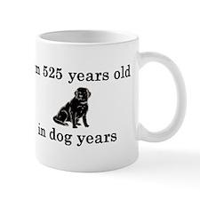 75 birthday dog years lab 2 Small Mug