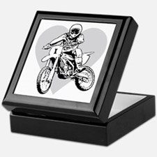 I love dirt biking with a heart Keepsake Box