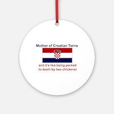 Mother of Croatian Twins Keepsake Ornament
