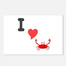 I (heart) crab Postcards (Package of 8)