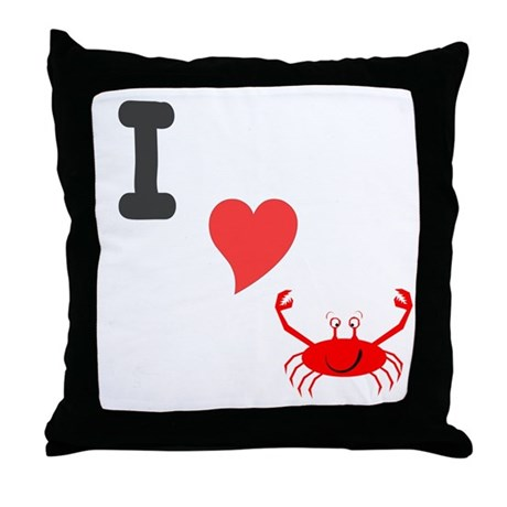 I (heart) crab Throw Pillow