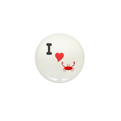 I (heart) crab Mini Button (10 pack)