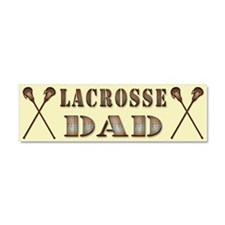 Lacrosse Dad, Steampunk Style Car Magnet 10 x 3