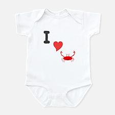I (heart) crab Infant Bodysuit