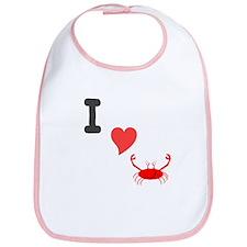 I (heart) crab Bib