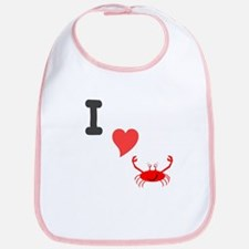 I (heart) crab Bib