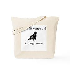 80 birthday dog years lab Tote Bag
