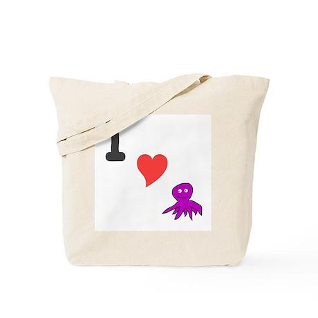 I (heart) octopus Tote Bag