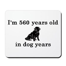 80 birthday dog years lab 2 Mousepad