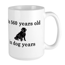 80 birthday dog years lab 2 Mug