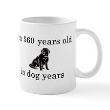 80 birthday dog years lab 2 Mug