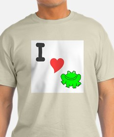 I (heart) froggie Ash Grey T-Shirt