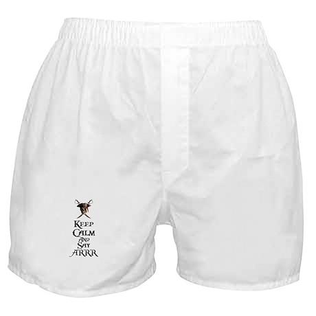 Keep Calm Say ARRR Boxer Shorts