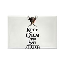 Keep Calm Say ARRR Rectangle Magnet (100 pack)