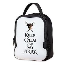Keep Calm Say ARRR Neoprene Lunch Bag
