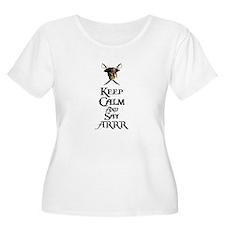 Keep Calm Say ARRR Plus Size T-Shirt