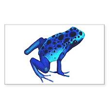 Blue Dart Frog Decal