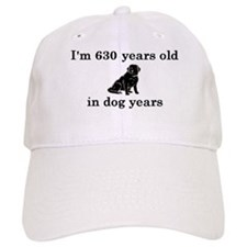 90 birthday dog years lab 2 Baseball Hat