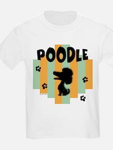 Poodle Stripe Kids T-Shirt