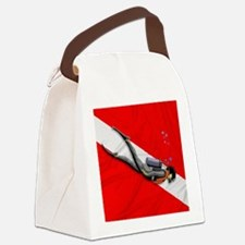 Dive Flag Canvas Lunch Bag