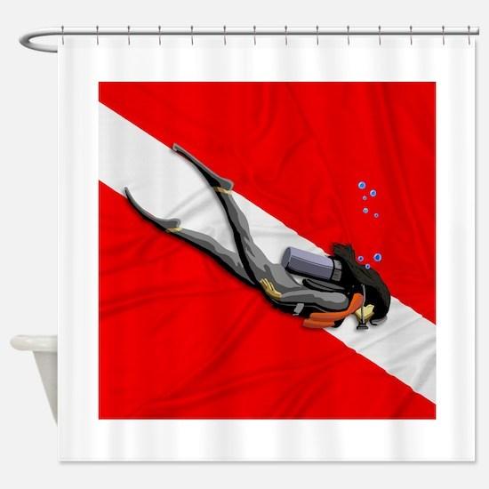 Dive Flag Shower Curtain