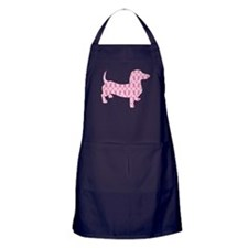 Ribbons for Cancer Doxies Apron (dark)