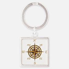 Vintage Compass Rose Keychains