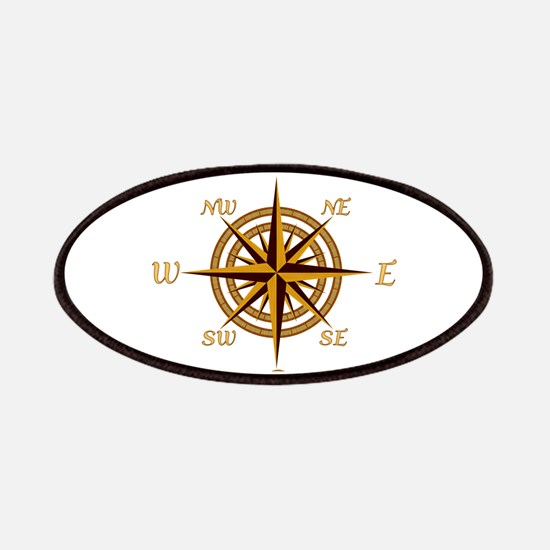 Vintage Compass Rose Patches