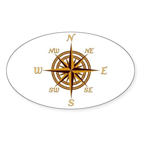 Vintage Compass Rose Sticker