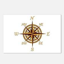 Vintage Compass Rose Postcards (Package of 8)