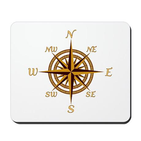 Vintage Compass Rose Mousepad