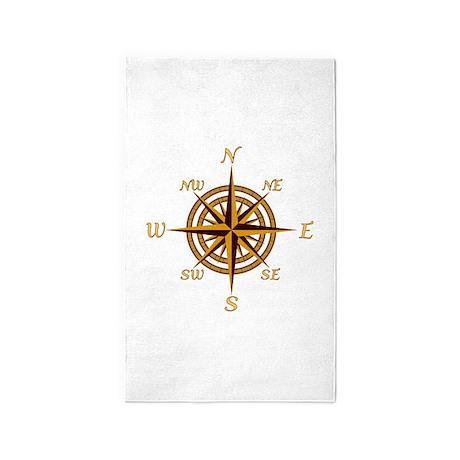 Vintage Compass Rose 3u0027x5u0027 Area Rug