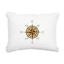Vintage Compass Rose Rectangular Canvas Pillow