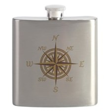 Vintage Compass Rose Flask