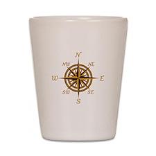 Vintage Compass Rose Shot Glass