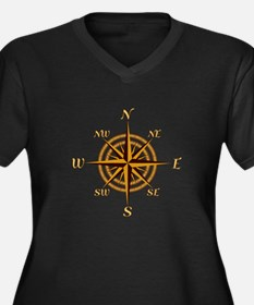 Vintage Compass Rose Plus Size T-Shirt
