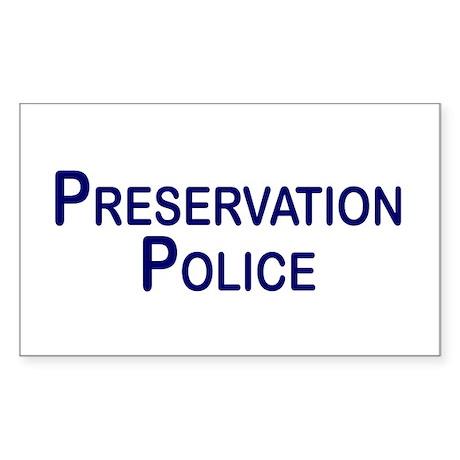 Preservation Police Rectangle Sticker
