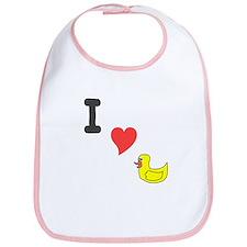 I (heart) duckie Bib