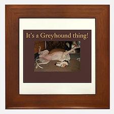 Greyhound Thing Framed Tile